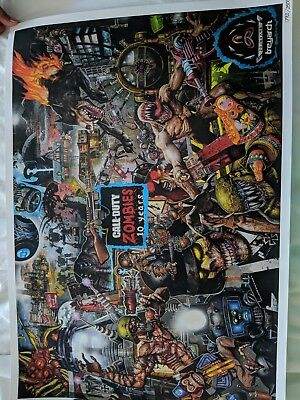 Call Of Duty Black Ops 4 Zombies 10 Year Anniversary Poster SDCC 2018 Exclusive