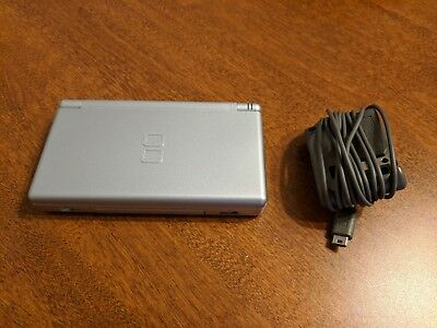 Nintendo DS Lite - Silver Video Game Hand-Held System with AC Adapter