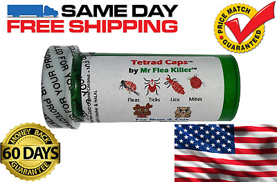 50 Tetrad Cap Capsule Dog Cat 26-75lb Rapid Flea Tick Lice Mite Killer Control 3
