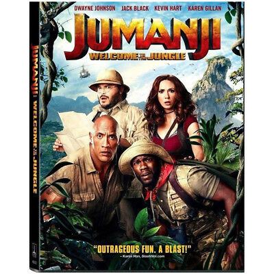 Jumanji Welcome to the Jungle DVD2018 NEW Free Fast Shipping US Seller