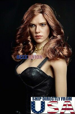 16 Scarlett Johansson Black Widow Head Sculpt For 12 PHICEN Suntan Figure USA
