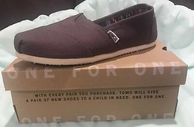 NEW Toms Classic Ash Canvas Shoes Womens 7 MED Flats Casual Slip-on