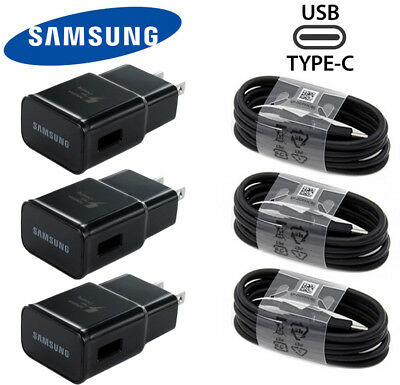 Samsung Adaptive Fast Travel Wall Charger for Galaxy S10 S9 S8 Plus Note 8-Cable