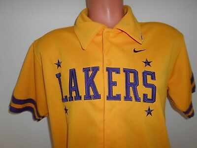 Vtg Los Angeles Lakers Warm Up Jersey Shirt Sz Large NBA Basketball Read