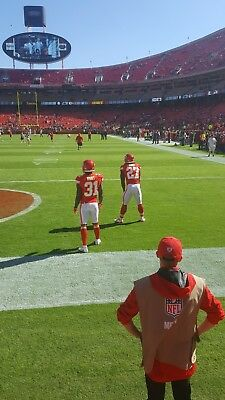 LA Chargers  Kansas City Chiefs LOWER LEVEL FRONT ROW 1