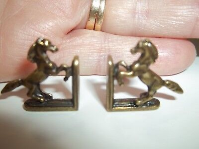 BEAUTIFUL HORSE BOOKENDS- METAL - DOLL HOUSE MINIATURE