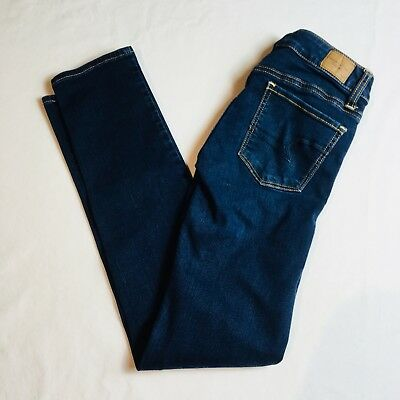 American Eagle Outfitters Womens Jeans Skinny Super Stretch Med Blue Sz 0 Short