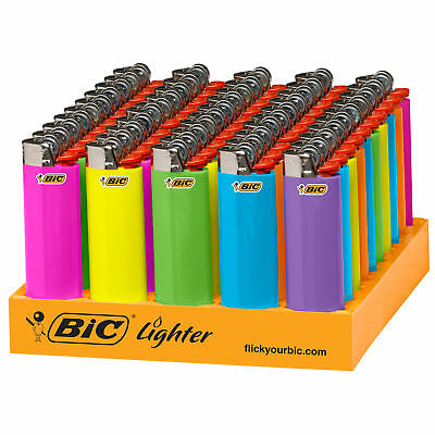 BIC Classic Lighter Fashion Assorted Colors 50-Count Tray