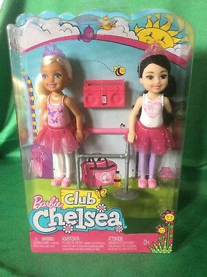 Barbie Club Chelsea Ballet Doll 2 Pack New