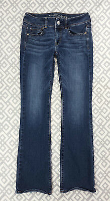 Womens American Eagle Outfitters Kick Boot Cut Jeans Denim Stretch Blue Sz 4 29