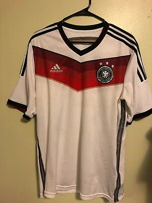 GERMANY 201415 WORLD CUP HOME ADIDAS SOCCER JERSEY MENS US Large