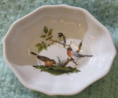 4 Limoges France Finger Bowl Birds LRI Hand Painted Bird Pottery Glass China