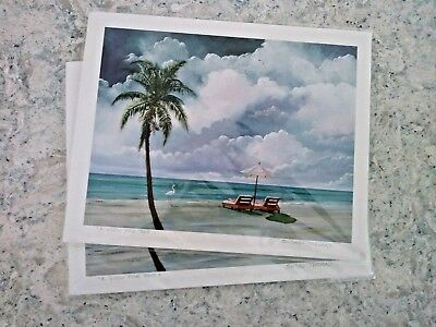A View For Two by Florida Keys Artist Susan Thomas Hand Signed Beach Scene