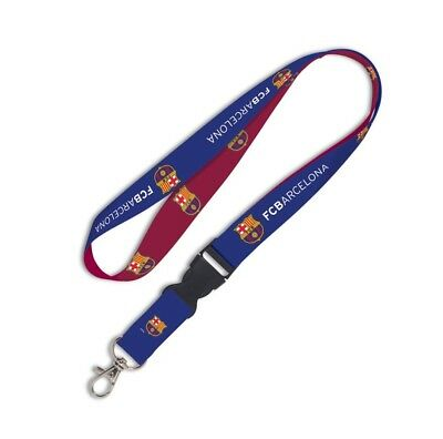 FC Barcelona Official Soccer 22 Lanyard Key Chain Barca by Wincraft