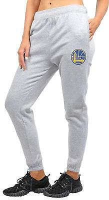 Golden State Warriors NBA Womens Gray Jogger Fleece Sweatpants Pants M-XL