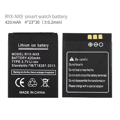 NEW RYX-NX9 420mAh Li-Ion Battery for Smart Watch Phone DZ09 Android Smartwatch