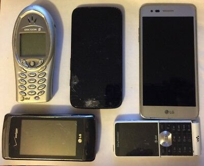 LOT OF 8 CELL AND SMARTPHONES FOR PARTS OR REPAIR SEE BELOW FOR DESCRIPTIONS
