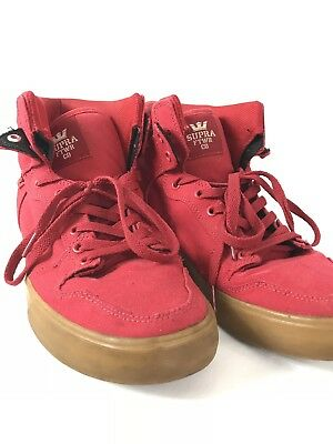 Supra Skytop Supreme Red High Top Ships Fast Mens Sneakers Shoes Mens Size 10-5