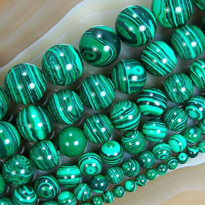 Hot Pure Natural Malachite Bead Semi-precious Stone Strands Jewelry Loose Beads
