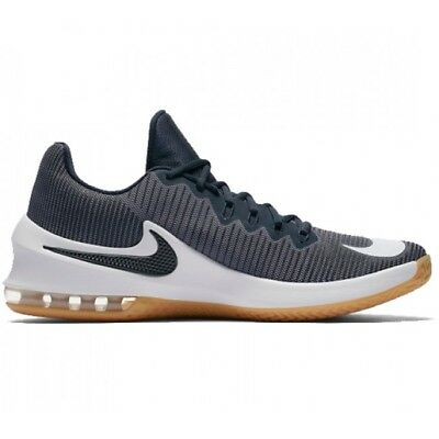 Nike AIR MAX INFURIATE 2 LOW Mens Grey 042 Athletic Flexible Basketball Shoes