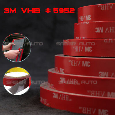 3M VHB 5952 Double-sided Acrylic Foam Adhesive Tape Automotive 15 Meters50FT