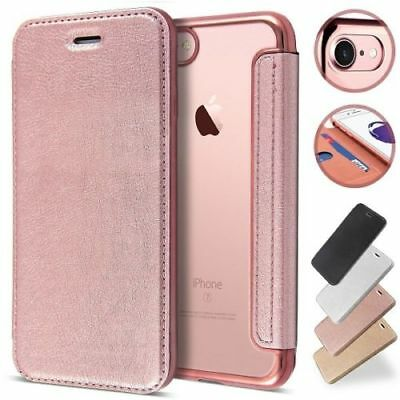 For iPhone 6S 7 Plus Luxury Slim book Leather -TPU wallet Flip Cover skin Case