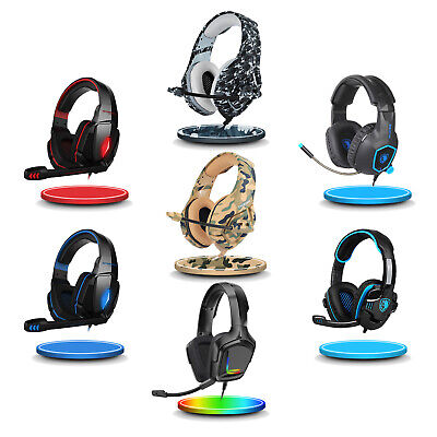 SADES Gaming Headset PS4 Xbox One Headphone PC Earphone 3-5mm Stereo Sound w Mic