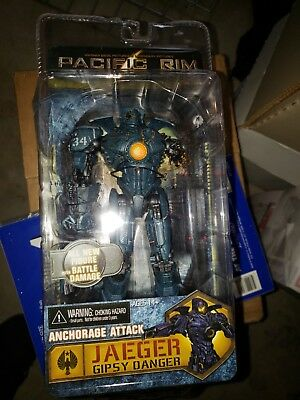 NECA Pacific Rim Jaegar Gipsy Danger Anchorage Attack 7 Deluxe Figure MIB