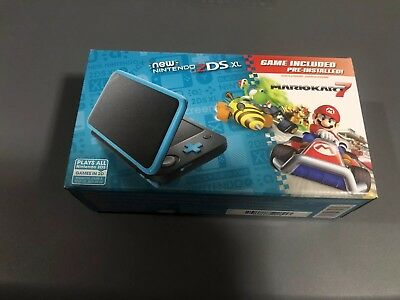 New Nintendo 2DS XL - Black - Turquoise With Mario Kart 7 Pre-installed