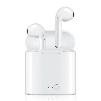 Wireless Bluetooth Headphones Earpods Airpods Apple iPhone 7 8 X - Charger Case