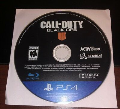 Call of Duty Black Ops 4 IIII Playstation 4 PS4 Disc Only Excellent Condition