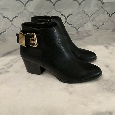 Aldo Black Gold Ankle Bootie Boot Size 6-5