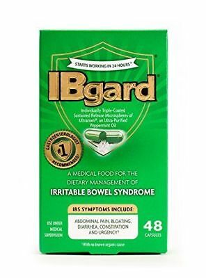 IBgard Dietary Management of Irritable Bowel Syndrome 48 Capsules Exp 102021