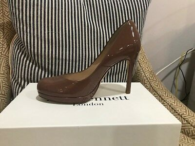 LK Bennett Sledge Patent Pump Winter Rose Size 38 as seen on Kate Middleton