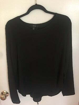NWT Forever 21 Size L Womens Black Blouse  Top - NEW