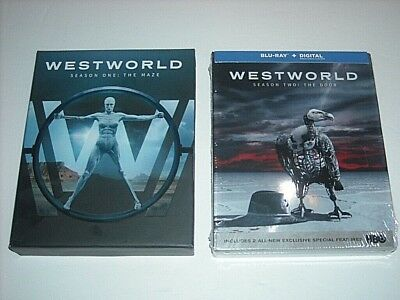 WESTWORLD COMPLETE SEASON 1 - 2 BLU-RAY TV SERIES BUNDLE SET 1 2 FREE PRIORITY