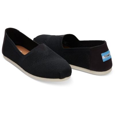 Toms CLASSIC Womens Black Custom Knit 10010821 Mesh Slip On Flats Shoes