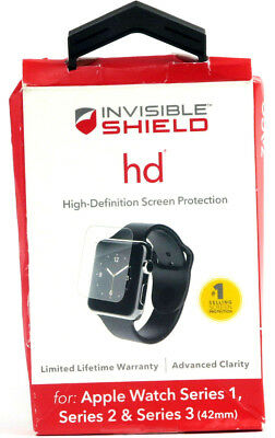 ZAGG HD Clear Shield High Definition Screen Protector for 42mm Apple Watch 1 2 3