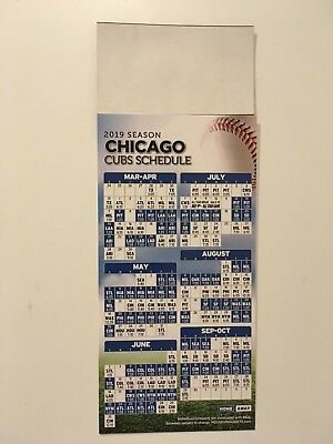 MLB 2019 CHICAGO CUBS MAGNET SCHEDULE 9 X 3 12 ALL TEAMS DATES - TIMES-NEW
