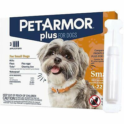 PetArmor Plus Flea - Tick Treatment for Cats over 1-5 lbs - 3 Month Supply- NIB