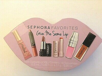 Sephora Favorites Give Me Some Lip - 6 lip products  - 2 full size- NEW IN BOX