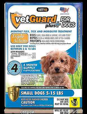 VetGuard Plus Flea - Tick 4 month supply for Small Dogs 5-15 lbs-