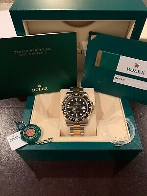 2018 Rolex GMT-MASTER II 116713 Oyster 18K YLW Gold SS Ceramic Bezel BOXPAPERS