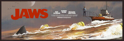 Jaws The Chase JC Richard SOLD OUT RARE Title Card AP Print  of 40 Mondo