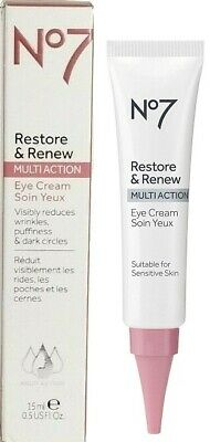 Boots No7 Restore - Renew MultiAction Eye Cream 15ml 0-5 oz- New in Box