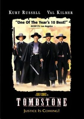 Tombstone DVD 1997 Kurt Russell Val Kilmer Sam Elliott Bill Paxton NEW