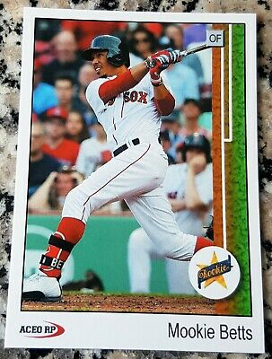 MOOKIE BETTS 2014 Star Rookie Card RC 1989 Style Boston Red Sox LA Dodgers HOT