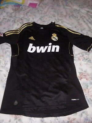 Ronaldo Jersey Real Madrid Small 2011-12 Gold Black Away