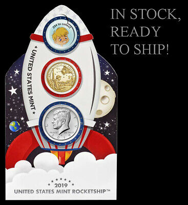 2019 US Mint Rocketship - Glows in the Dark - Limited Mintage of 50K - IN HAND