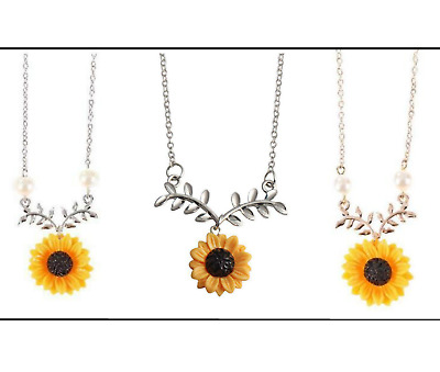 New Creative Necklace Temperament Sunflower Pendant Mothers Day Gift Jewelry